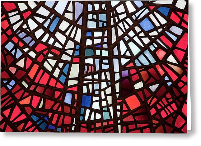 Stained Glass Windows Greeting Card by Ashley Cooper