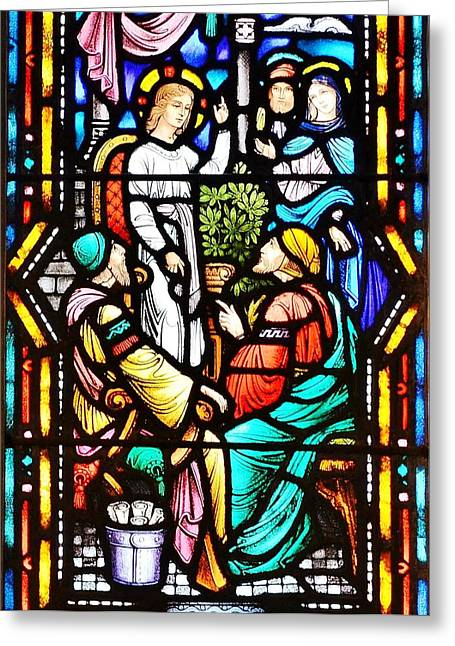 Stained Glass Windows At St. Edmond Church 1 - Rehoboth Beach Delaware Greeting Card