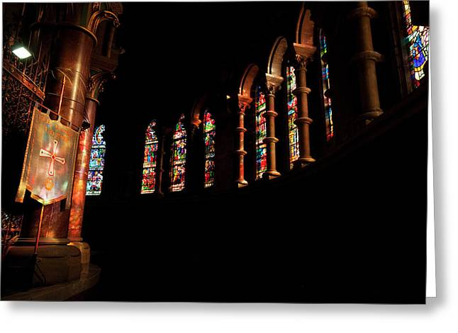 Stained Glass Windows Near The Altar,st Greeting Card