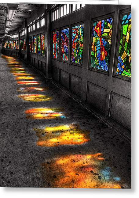 Stains In The Path Greeting Card by William Fields