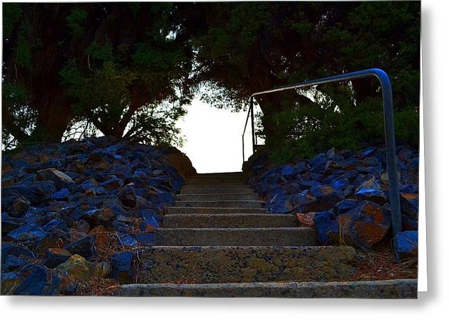 Greeting Card featuring the photograph Stair Way To Heaven  by Naomi Burgess