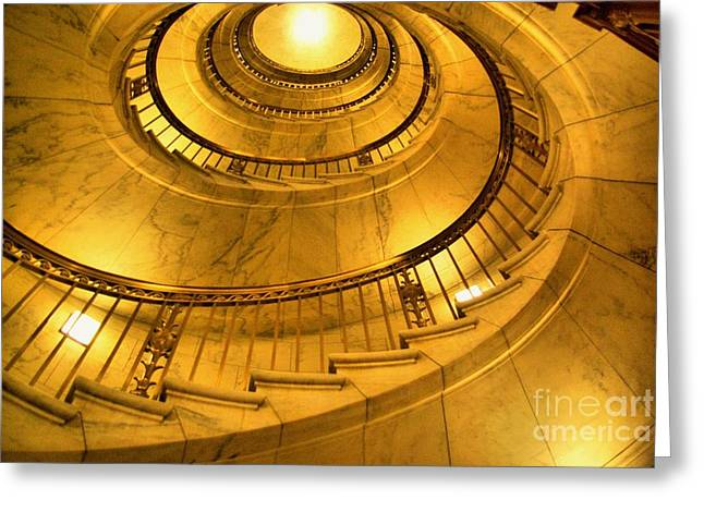 Stair Way To Justice Greeting Card by John S