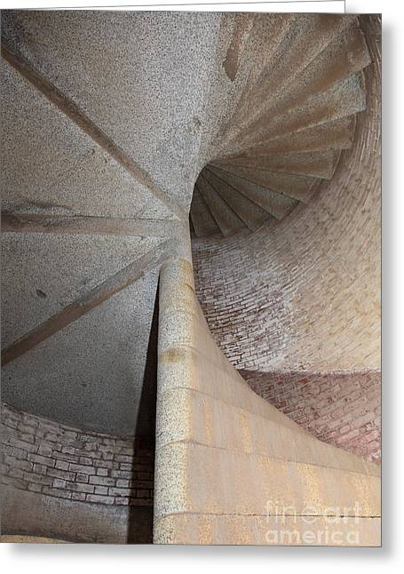 Stair Well At San Francisco Fort Point 5d21535 Greeting Card