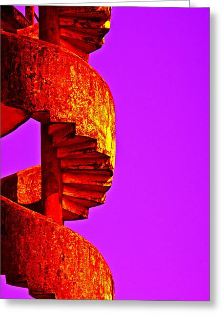 Greeting Card featuring the photograph Staircase Abstract by Dennis Cox WorldViews