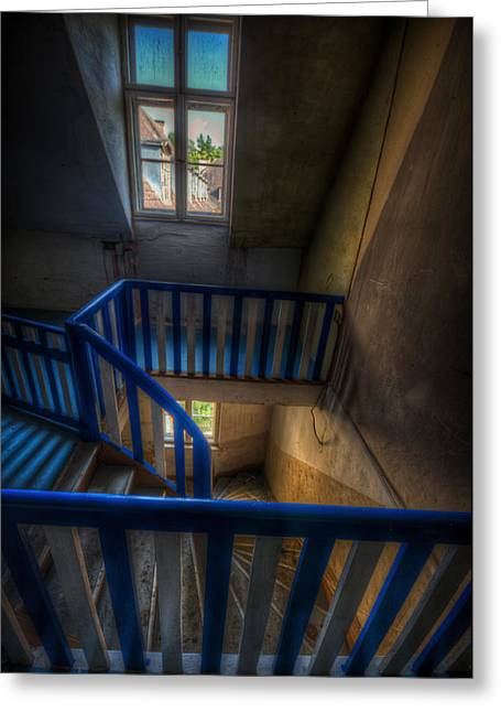 Staircase Blues  Greeting Card by Nathan Wright