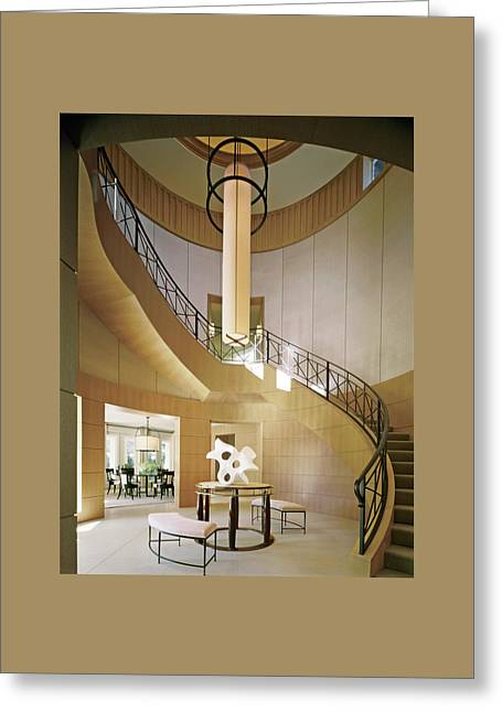 Staircase In Luxurious House Greeting Card by Durston Saylor