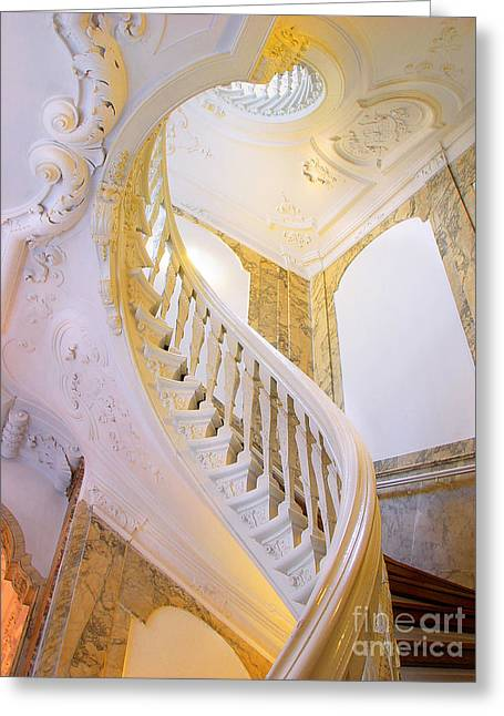 Greeting Card featuring the photograph Staircase In Wood by Michael Edwards