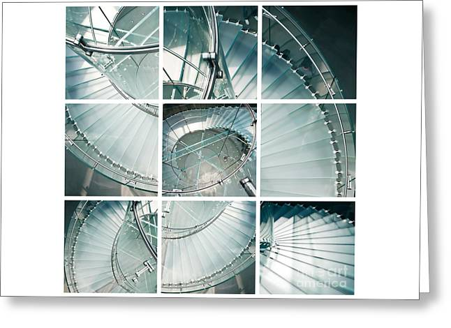 Staircase Jigsaw Greeting Card