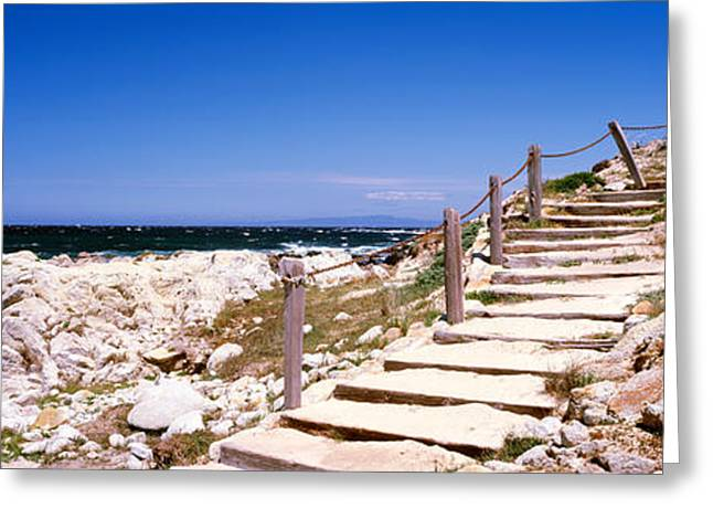 Staircase On The Coast, Pacific Grove Greeting Card by Panoramic Images
