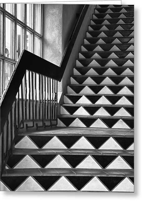Greeting Card featuring the photograph Staircase Santa Fe New Mexico by Ron White