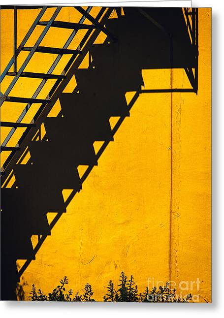 Greeting Card featuring the photograph Staircase Shadow by Silvia Ganora