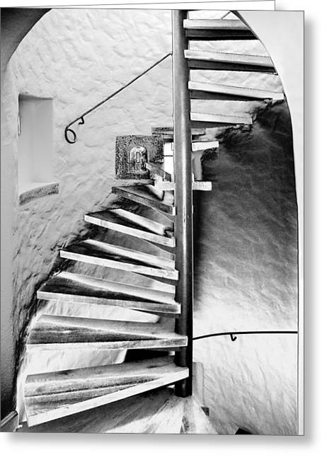 Staircase - Spiral Greeting Card by Robert Culver