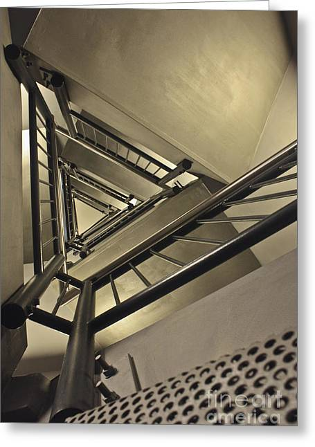 Greeting Card featuring the photograph Stairing Up The Spinnaker Tower by Terri Waters