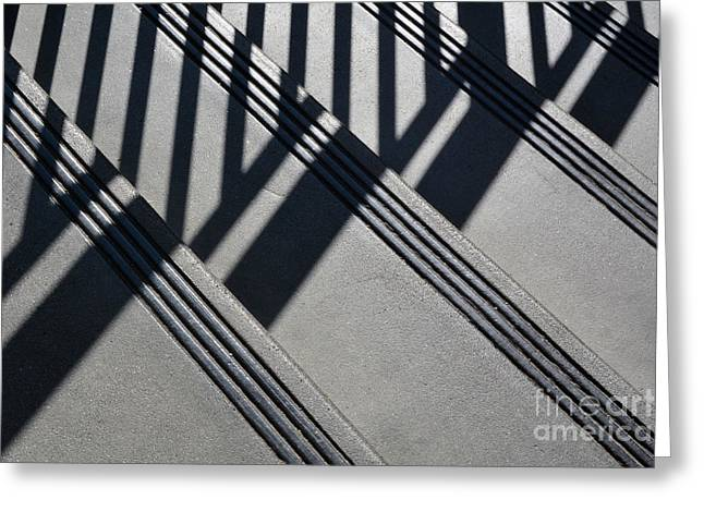 Stairs And Rail Greeting Card by Dan Holm