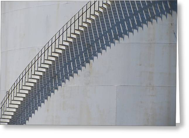 Stairs And Shadows 3 Greeting Card by Anita Burgermeister