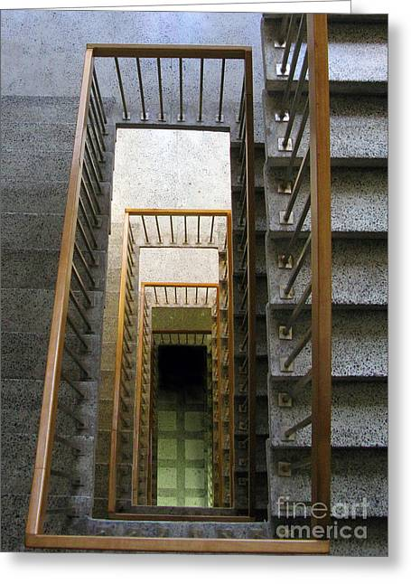 Stairs Greeting Card by Ausra Huntington nee Paulauskaite