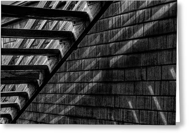 Stairs Greeting Card by David Patterson