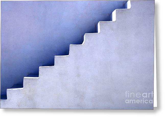 Stairs In Santorini Greeting Card by Bob Christopher
