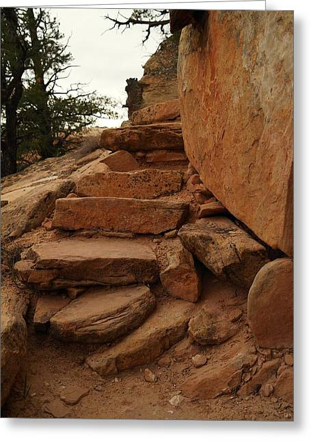 Stairs In The Desert Greeting Card by Jeff Swan
