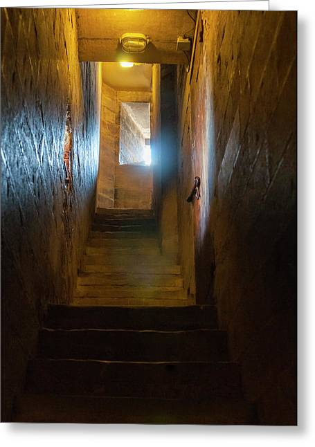 Stairs Inside Campanile Di Giotto Greeting Card by Nico Tondini