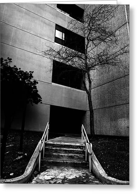 Stairs Into Darkness Greeting Card