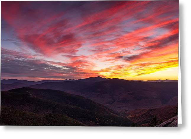 Stairs Mountain Autumn Sunset Greeting Card