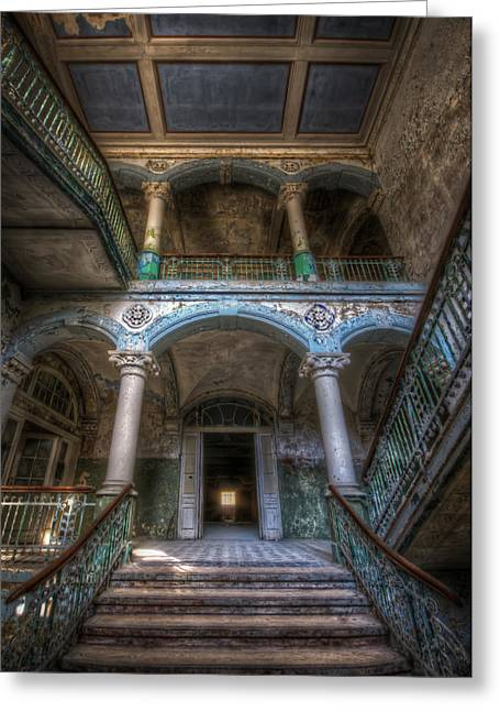 Stairs Of Beauty Greeting Card by Nathan Wright