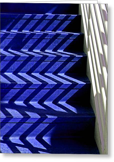 Stairs Of Blue Greeting Card by Christopher McKenzie