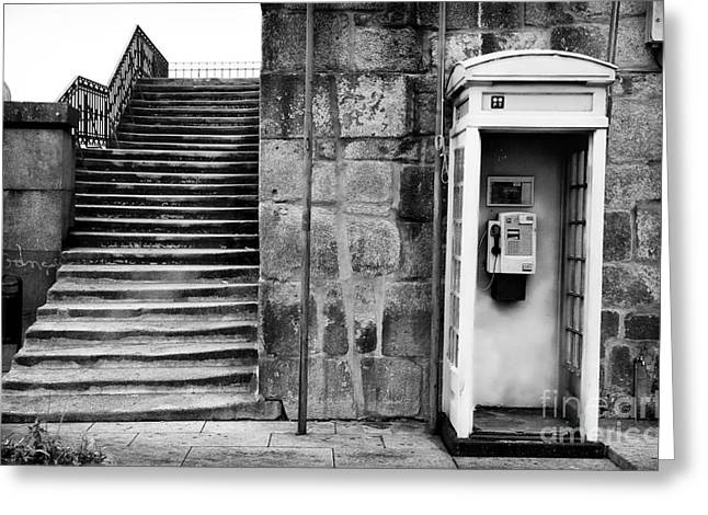 Center City Greeting Cards - Stairs or the Phone Greeting Card by John Rizzuto