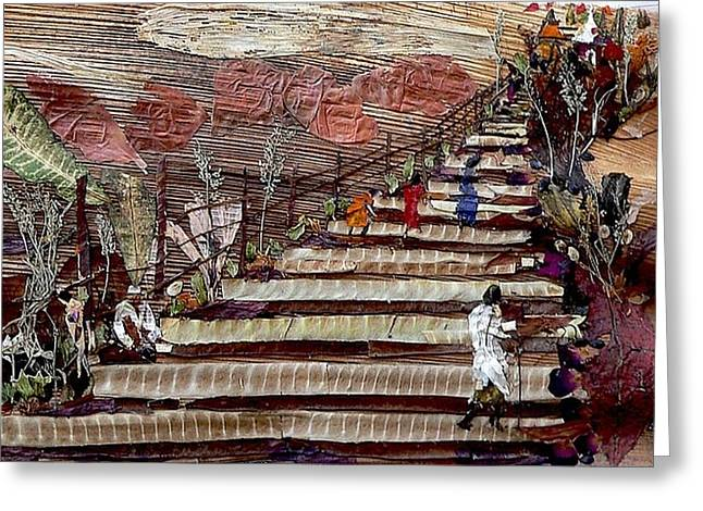Stairs To Temples  Greeting Card