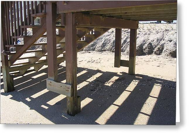 Stairs To The Beach Greeting Card by Nance Larson