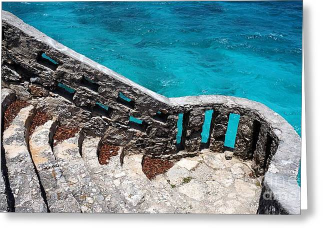 Stairs To The Sea Greeting Card