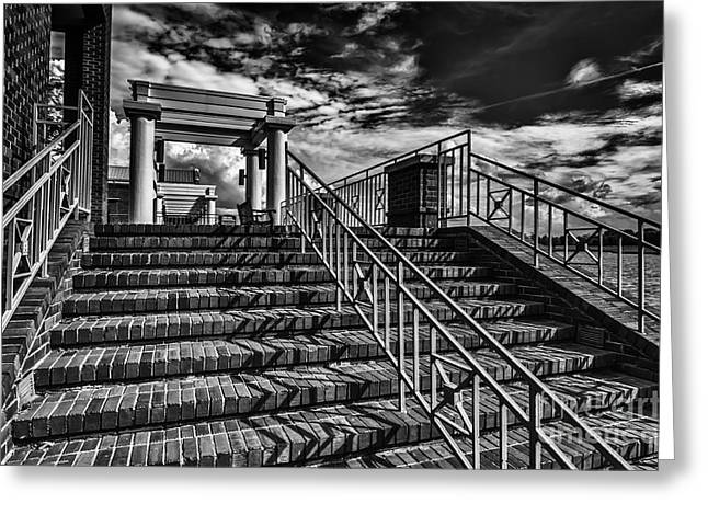 Stairway At Montgomery Museum Of Fine Arts Greeting Card by Danny Hooks