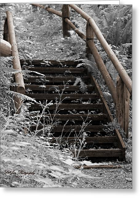 Stairway Home Greeting Card