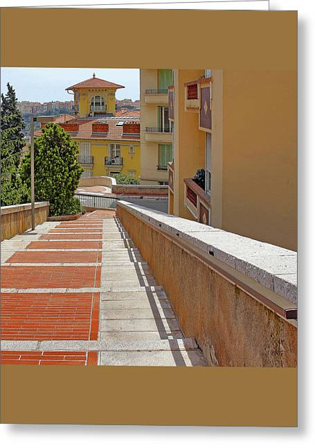 Stairway In Monaco French Riviera Greeting Card