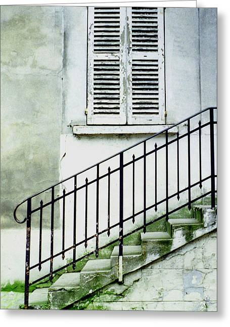 Greeting Card featuring the photograph Stairway In Paris by Mary Bedy