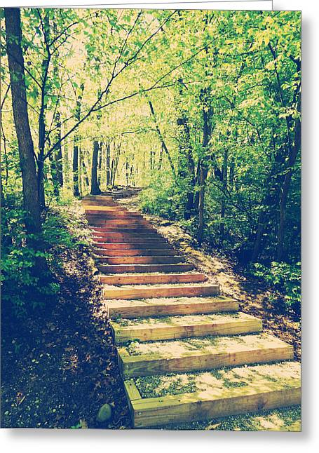 Stairway Into The Forest Greeting Card