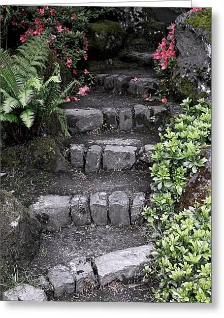 Stairway Path To Gardens Greeting Card by Athena Mckinzie