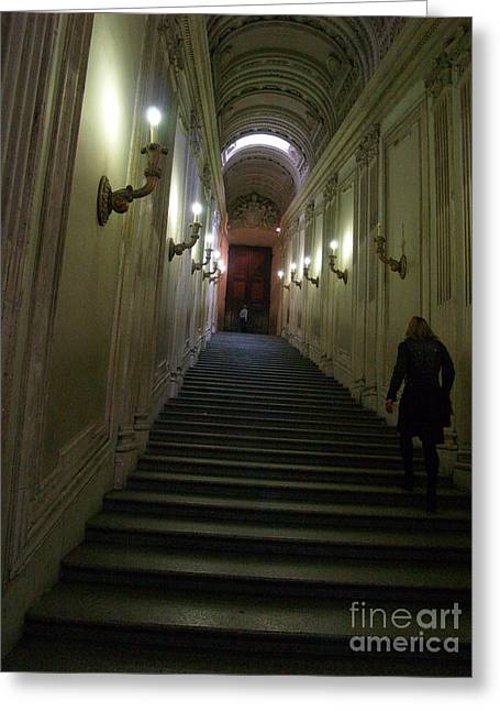 Greeting Card featuring the photograph Stairway  by Robin Maria Pedrero