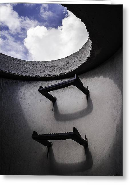 Greeting Card featuring the photograph Stairway To Heaven - Inside Out by Steven Milner