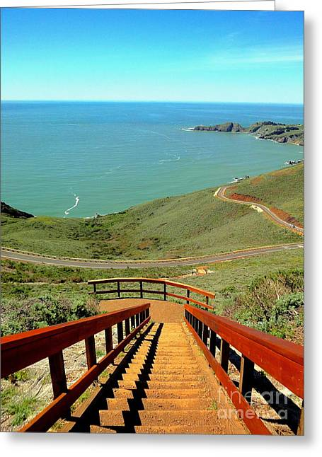 Stairway To Heaven Greeting Card by Sarah Mullin