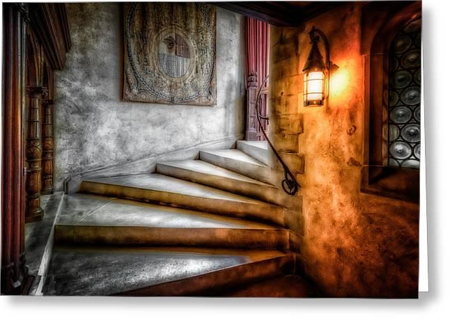 Stairway To My Heart Greeting Card by Linda Karlin