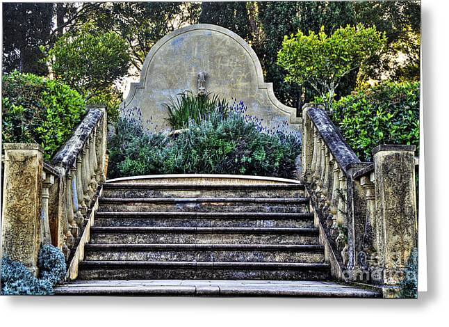 Stairway To Nowhere Greeting Card by Kaye Menner
