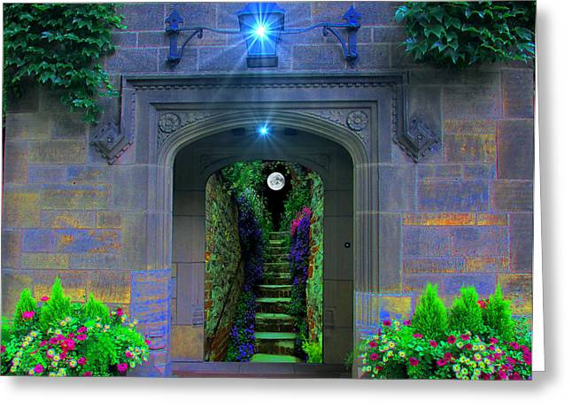 Stairway To Paradise  Greeting Card by Michael Rucker
