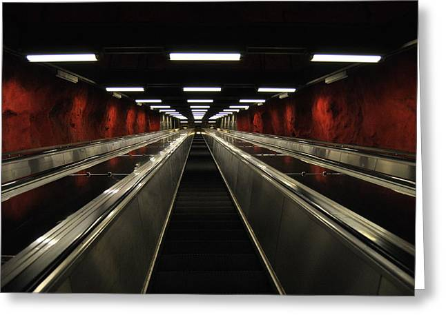 Stairway To Red Greeting Card by Frederico Borges