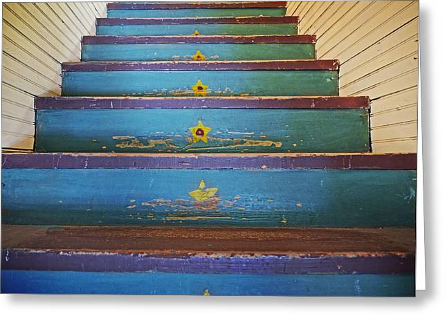 Stairway To...... Greeting Card by Steven  Michael