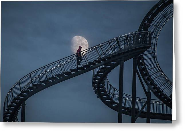 Stairway To The Moon Greeting Card