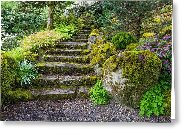 Stairway To The Secret Garden Greeting Card