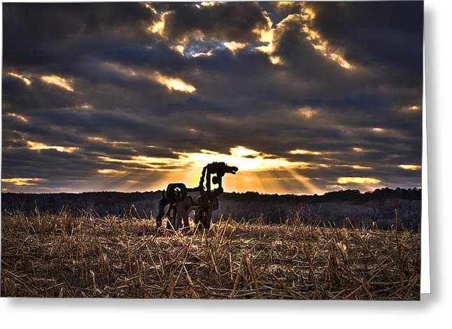 Stairways To Heaven The Iron Horse Greeting Card