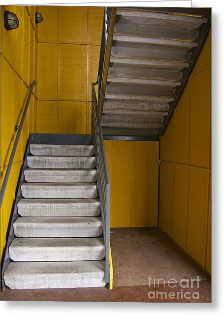Stairwell Greeting Card by Sean Griffin